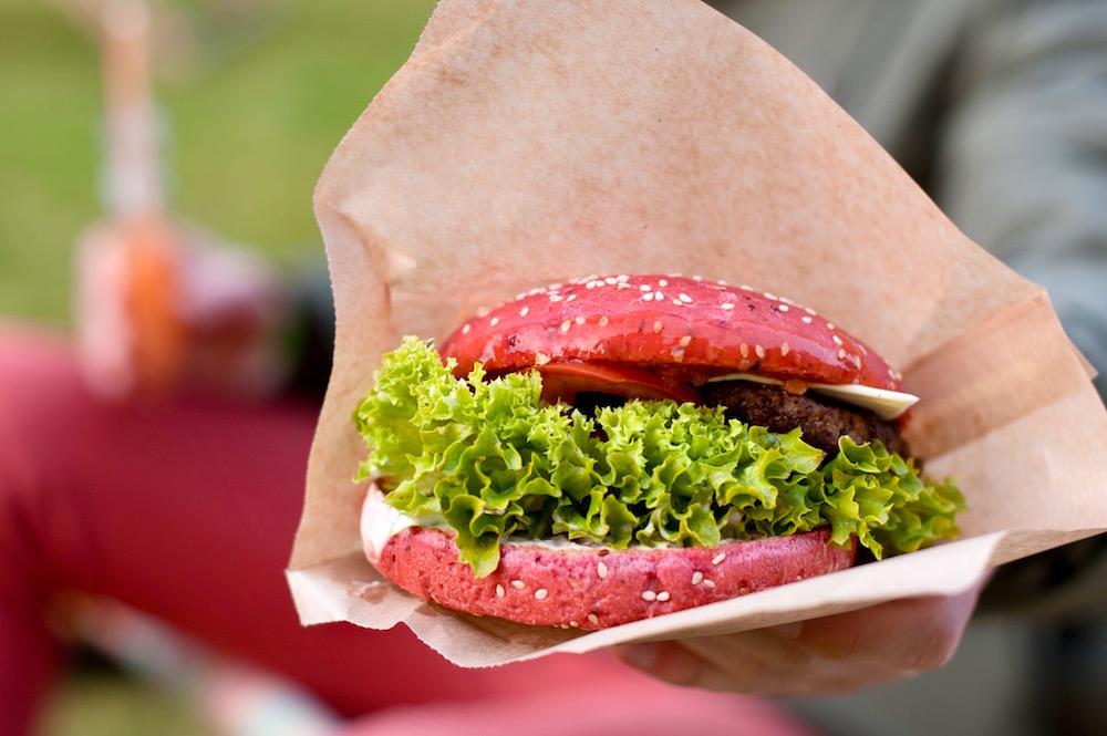 Цветные булочки для бургеров