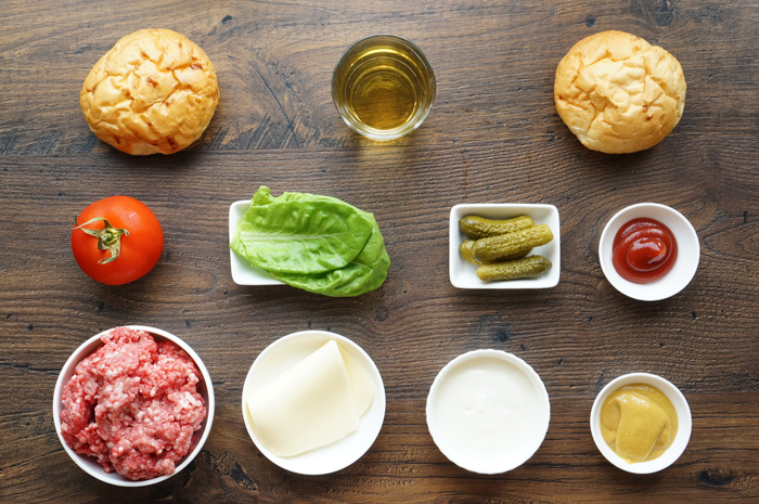 Приготовление бургера